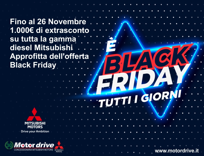 Approfitta dell'offerta Black Friday