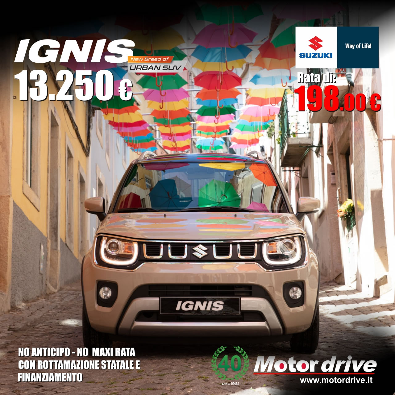 Suzuki Ignis 1.2 cool hybrid - l'unico Suv ultracompatto